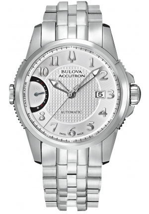 BULOVA ACCUTRON Men's Swiss Automatic Stainless Steel Bracelet 43mm 63B161