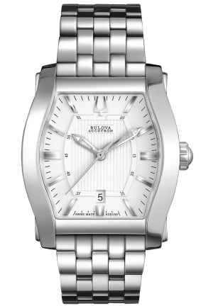 BULOVA ACCUTRON Men's Swiss Stratford Stainless Steel Bracelet 31x29mm 63B158