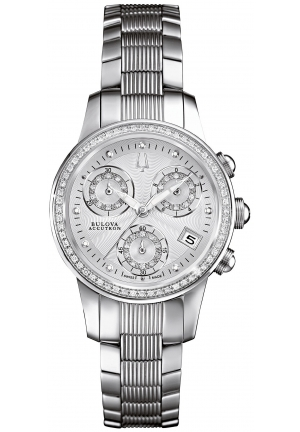 BULOVA ACCUTRON Women's Swiss Chronograph Stainless Steel Bracelet 31mm 63R140