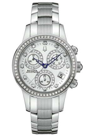 BULOVA ACCUTRON Women's Swiss Chronograph Stainless Steel Bracelet 31mm