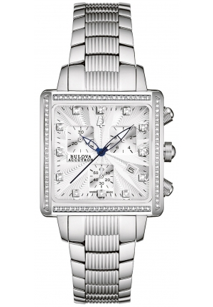 BULOVA ACCUTRON Women's Swiss Chronograph Stainless Steel Bracelet 32mm