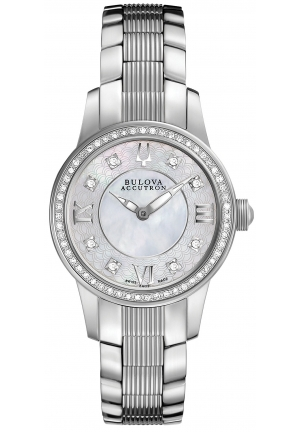 BULOVA ACCUTRON Women's Swiss Stainless Steel Bracelet 28mm