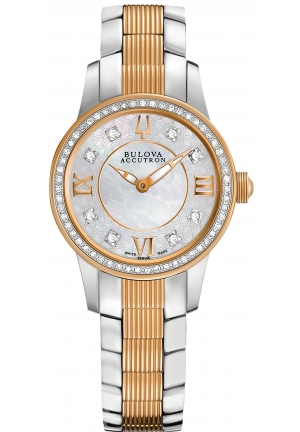 BULOVA ACCUTRON Women's Swiss Two-Tone Stainless Steel Bracelet 28mm 65R152