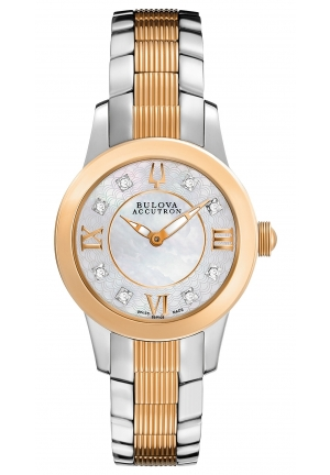 BULOVA ACCUTRON Women's Two-Tone Stainless Steel Bracelet 31mm