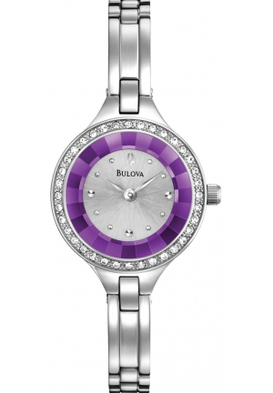 BULOVA Crystal Women's Quartz Watch 25mm
