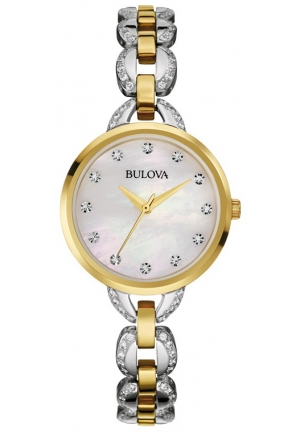 BULOVA Facets Crystal Two-Tone Stainless Steel Bracelet Watch 28mm