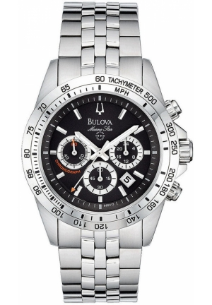 BULOVA Men's Chronograph Stainless Steel Bracelet