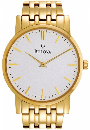 BULOVA Men's Gold-Tone Stainless Steel Bracelet 35mm