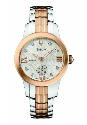 BULOVA Two-Tone Rose Gold tone & Steel Womens Watch 31mm 65P101