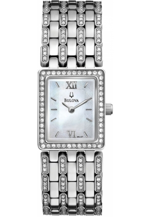 BULOVA Women's Crystal Stainless Steel Bracelet 20mm