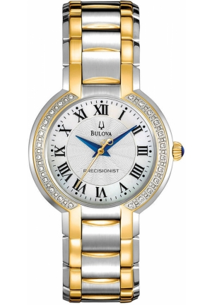 BULOVA Women's Diamond Accent Two Tone Stainless Steel Bracelet 30mm