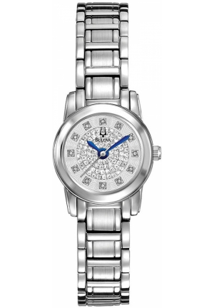 BULOVA Women's Diamond Stainless Steel Bracelet 21mm