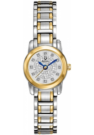 BULOVA Women's Diamond Two-Tone Stainless Steel Bracelet 21mm