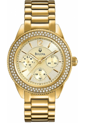 BULOVA Women's Gold-Tone Stainless Steel Bracelet 38mm