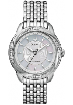 BULOVA Women's Precisionist Brightwater Swirl pattern Watch 31mm
