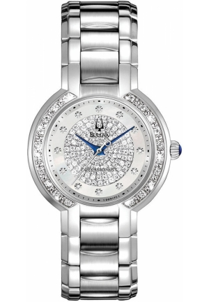 BULOVA Women's Precisionist Diamond Stainless Steel Bracelet 30mm