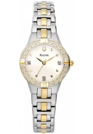 BULOVA Women's Two-Tone Stainless Steel Bracelet 28mm