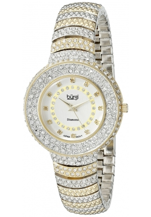Burgi Women's Analog Display Japanese Quartz Two Tone Watch