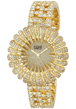 Burgi Women's Analog Display Analog Quartz Gold Watch