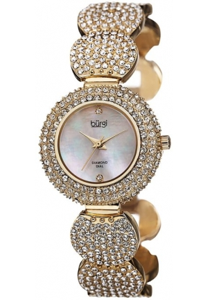 Burgi Women's Gold-Tone Bracelet Watch