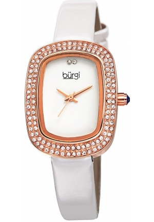 Burgi Women's Analog Display Swiss Quartz White Watch