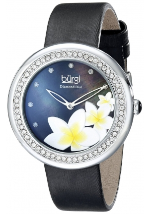 Burgi Women's Analog Display Japanese Quartz Black Watch