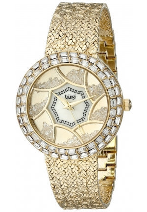 Burgi Women's Analog Display Quartz Gold Watch