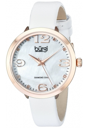 Burgi Women's Analog Display Japanese Quartz White Watch