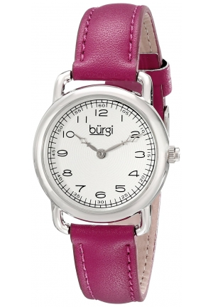 Burgi Women's Analog Display Quartz Purple Watch