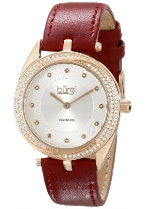 Burgi Women's Analog Display Japanese Quartz Red Watch