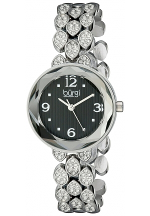 Burgi Women's Analog Display Japanese Quartz Silver Watch