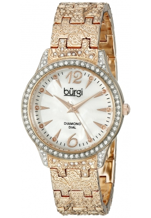 Burgi Women's Analog Display Japanese Quartz Rose Gold Watch
