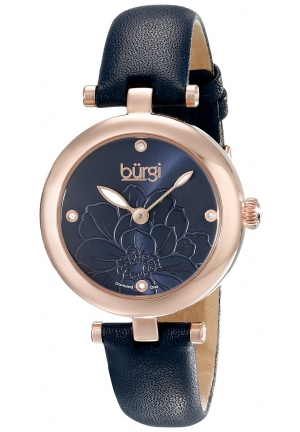 BURGI WOMEN'S ANALOG DISPLAY JAPANESE QUARTZ BLUE WATCH