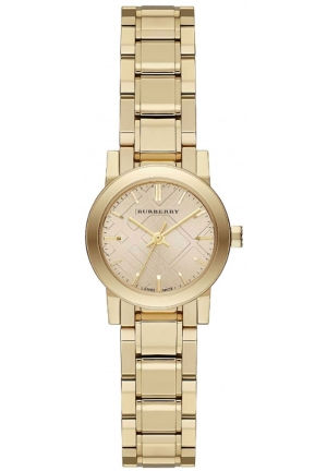 BURBERRY Unisex Swiss The City Light Gold-Tone Stainless Steel Bracelet Watch 26mm