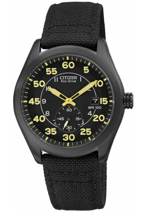 Citizen Men's Eco-Drive Black Nylon Strap Watch
