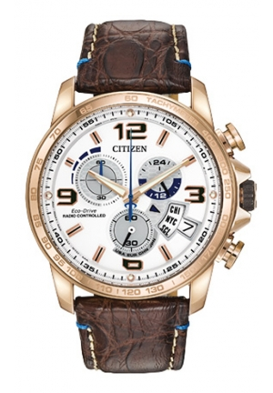 Citizen Men's Chrono-Time A-T Limited Edition Analog Display Japanese Quartz Brown Watch