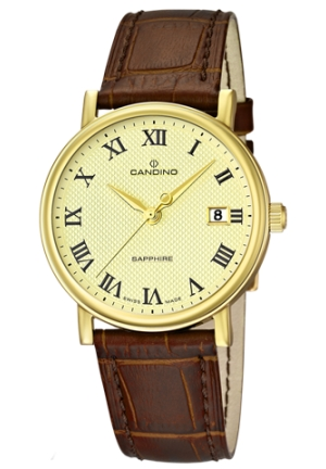 CANDINO MEN  BROWN LEATHER 38MM