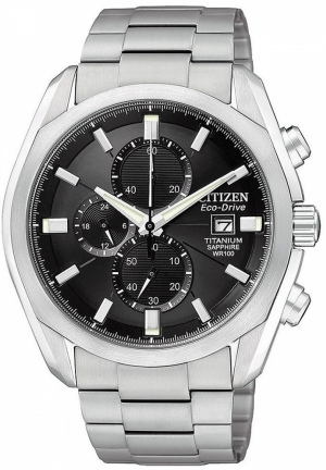 CITIZEN Men's Eco-Drive Titanium Bracelet 43mm