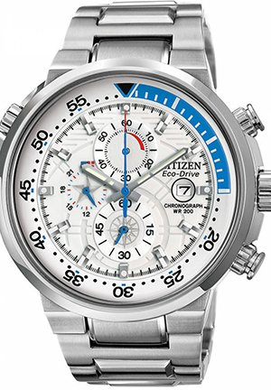 Men's Chronograph Eco-Drive Endeavor Stainless Steel Bracelet 46mm