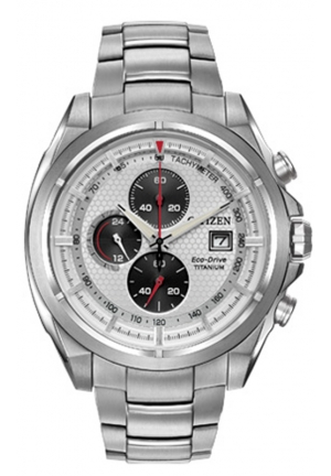 Citizen Men's Titanium Analog Display Japanese Quartz Silver Watch