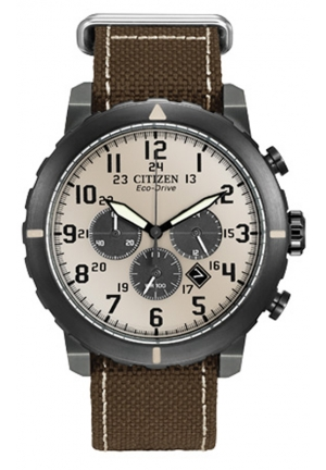 "Citizen Men's ""Military"" Stainless Steel Watch"