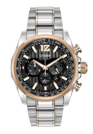 Citizen Men's Shadowhawk Eco-Drive Two-Tone Stainless Steel Bracelet Watch