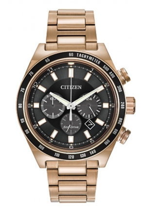 Citizen Men's Sport Chronograph Analog Display Japanese Quartz Rose Gold Watch
