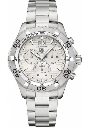Men's Chronograph Aquaracer Grande Date Stainless Steel Bracelet 43mm CAF101F.BA0821