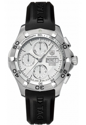 AQUARACER AUTOMATIC CHRONOGRAPH RUBBER STRAP WATCH 46MM,CAF2011.FT8011