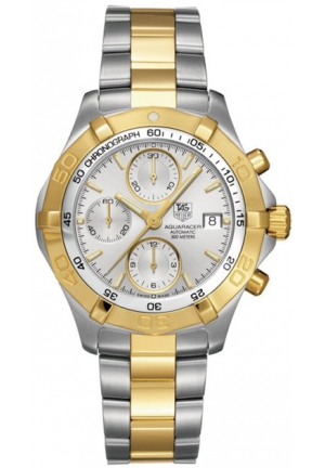 Men's Swiss Automatic Chronograph Aquaracer Two Tone Stainless Steel Bracelet 42mm CAF2120.BB0816