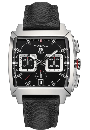 MONACO BLACK OPALIN DIAL AUTOMATIC MEN'S CHRONOGRAPH WATCH 40.5 X 40.5MM,CAL2113.FC6536