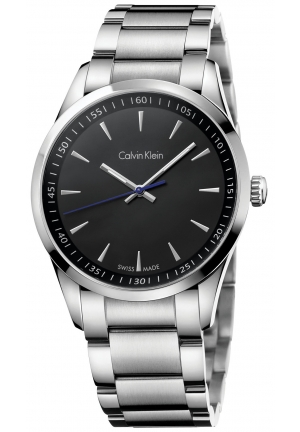 CALVIN KLEIN Men's Swiss Stainless Steel Bracelet Watch 41mm