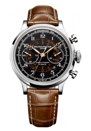 BAUME & MERCIER Capeland Flyback Chronograph Black Dial Mens Watch 42mm
