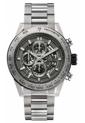CARRERA CALIBER HEUER 01 SKELETON MENS WATCH CAR2A8A.BF0707, 45MM